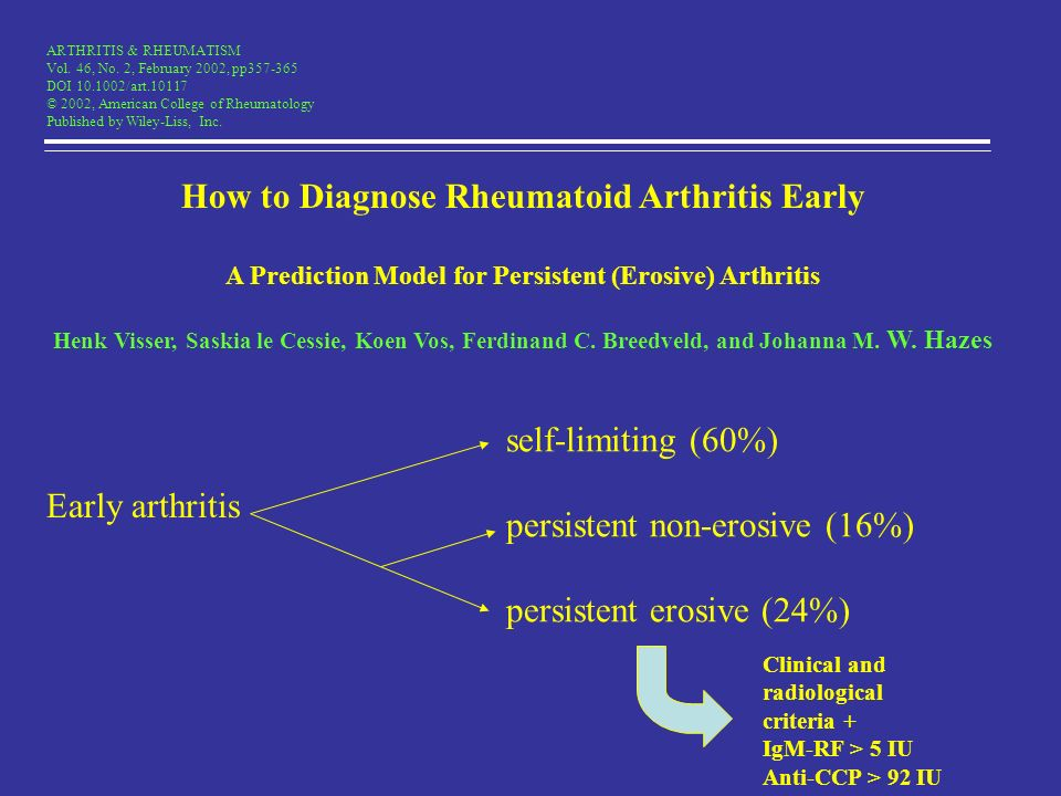 How to Diagnose Rheumatoid Arthritis Early