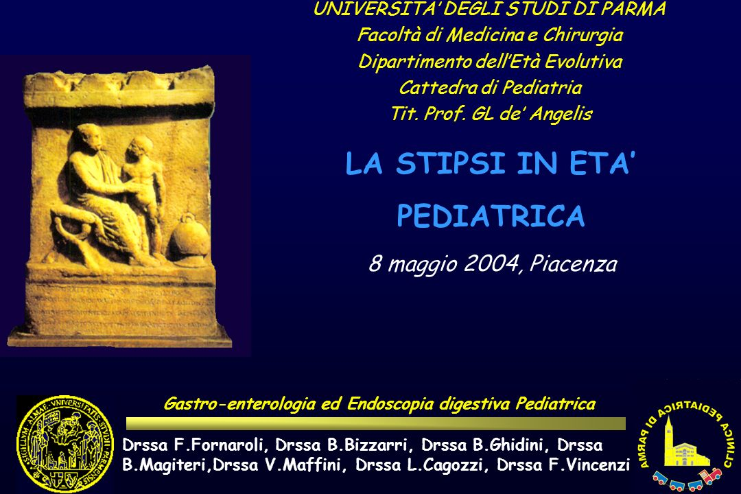 Gastro-enterologia ed Endoscopia digestiva Pediatrica