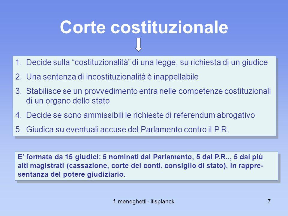 Gli organi costituzionali della repubblica italiana ppt for Una decorazione e formata da cinque rombi simili