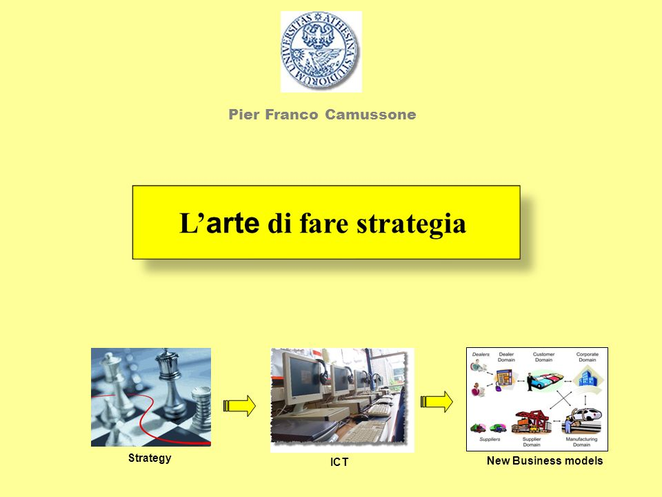 L'arte di fare strategia