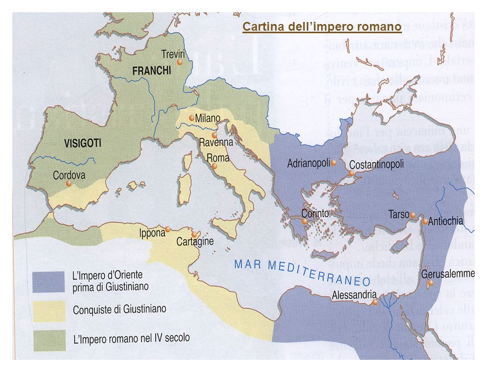 Cartina dell'impero romano
