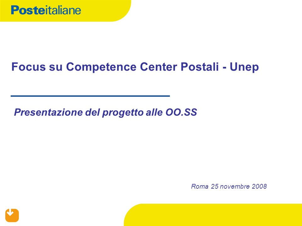 Focus su Competence Center Postali - Unep
