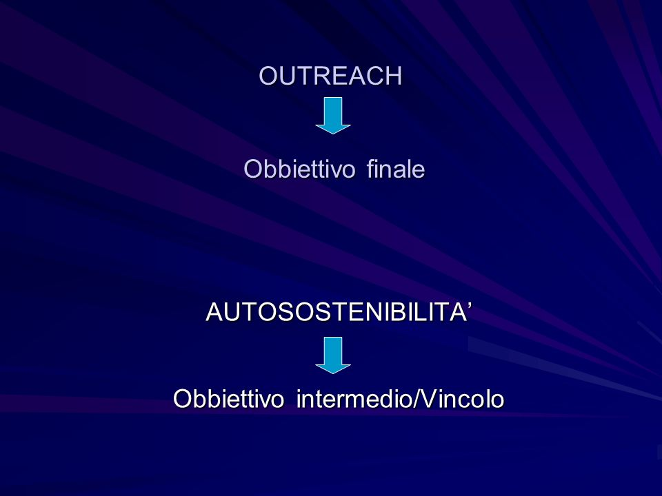 OUTREACH Obbiettivo finale