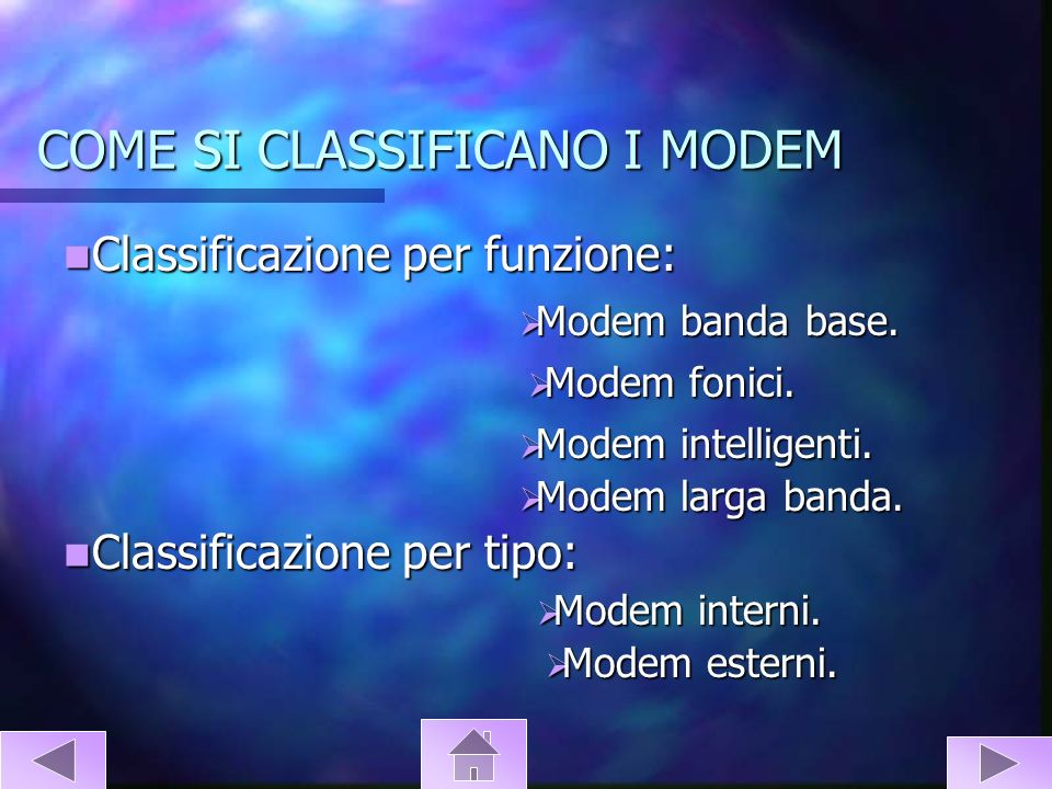 COME SI CLASSIFICANO I MODEM