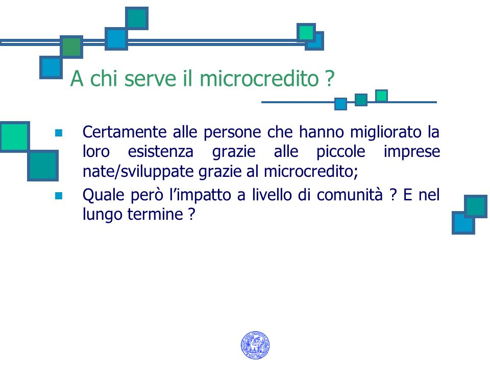 A chi serve il microcredito