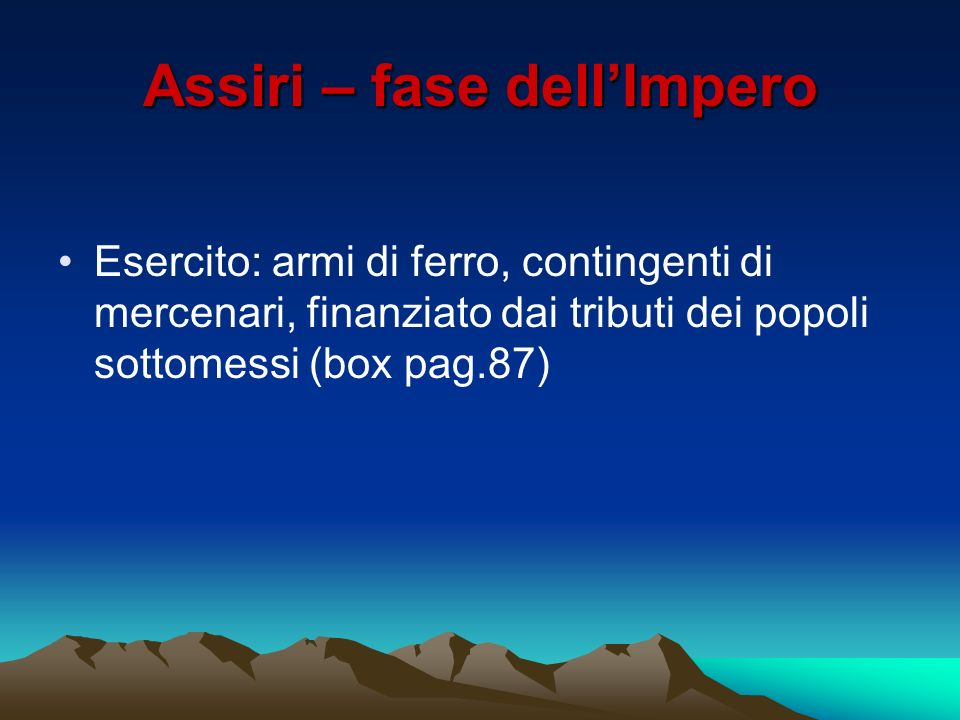 Assiri – fase dell'Impero