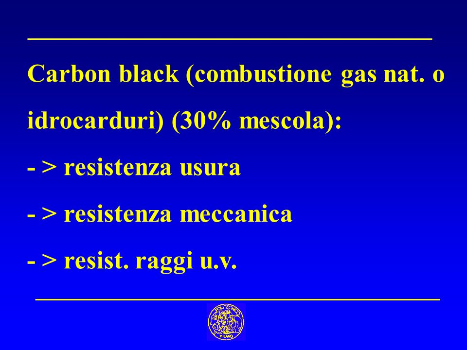 Carbon black (combustione gas nat. o