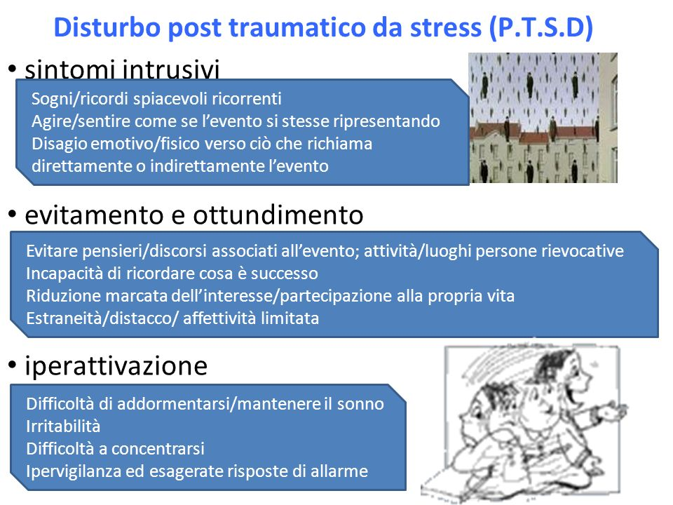 Disturbo post traumatico da stress (P.T.S.D)