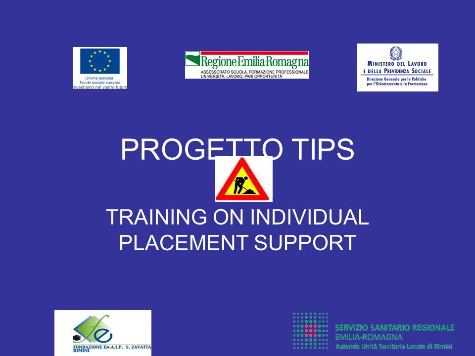 TRAINING ON INDIVIDUAL PLACEMENT SUPPORT