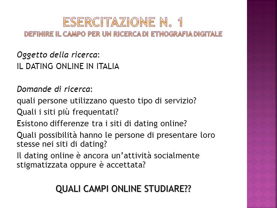 Discorso informativo su dating online