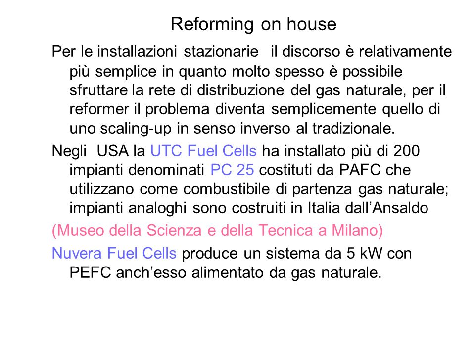 Reforming on house