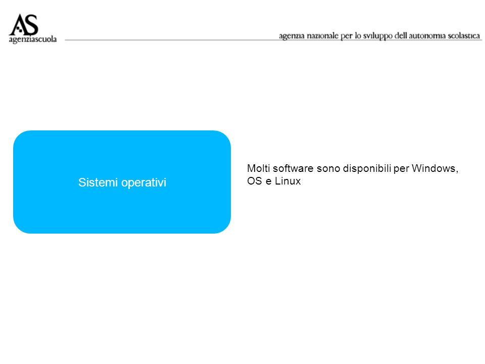 Sistemi operativi Molti software sono disponibili per Windows,