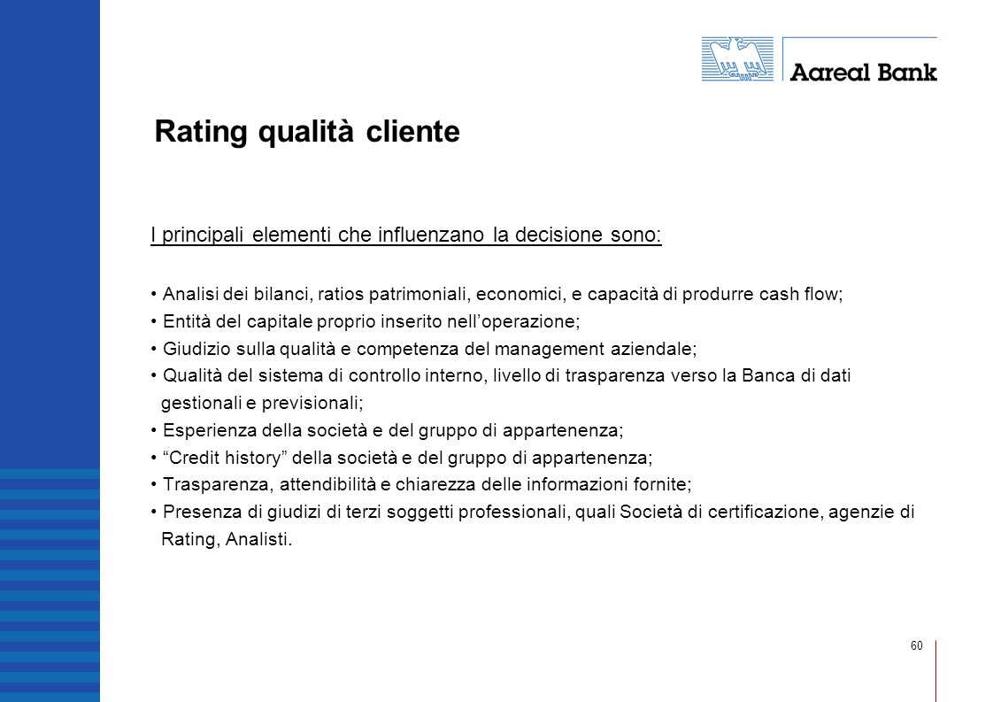 Rating qualità cliente