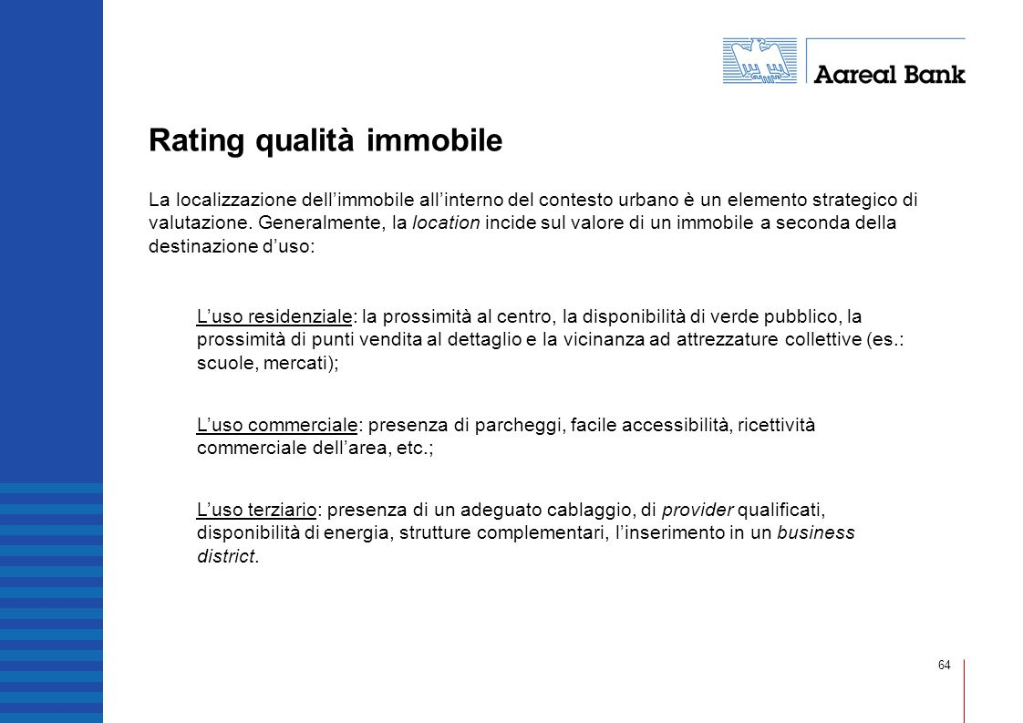 Rating qualità immobile