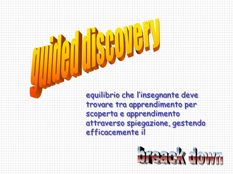guided discovery breack down