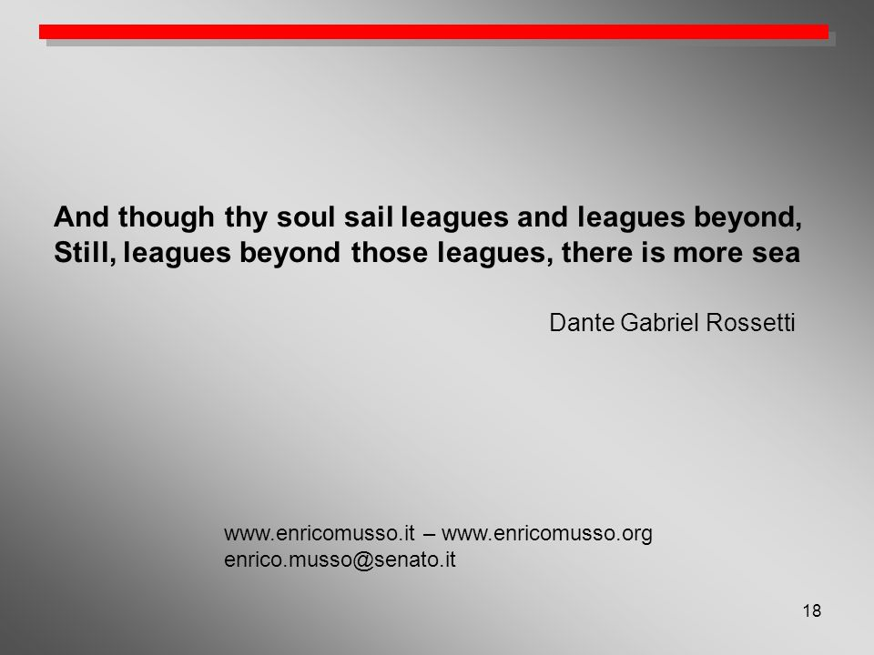 And though thy soul sail leagues and leagues beyond,