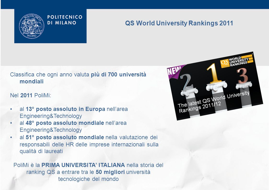 QS World University Rankings 2011