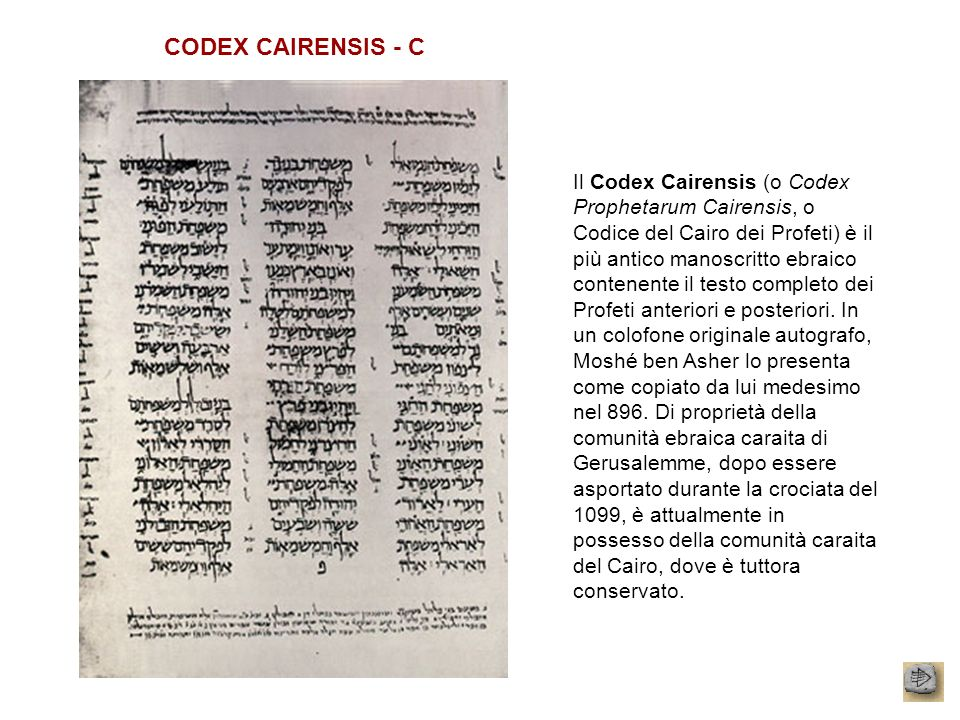 CODEX CAIRENSIS - C