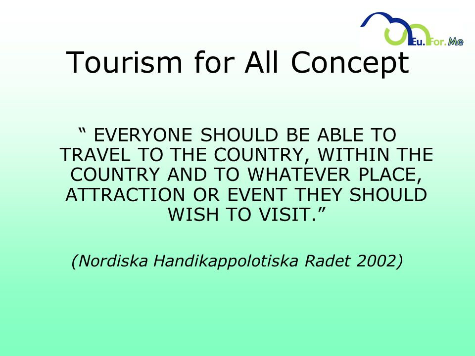 Tourism for All Concept