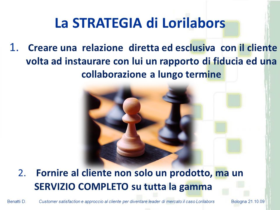 La STRATEGIA di Lorilabors