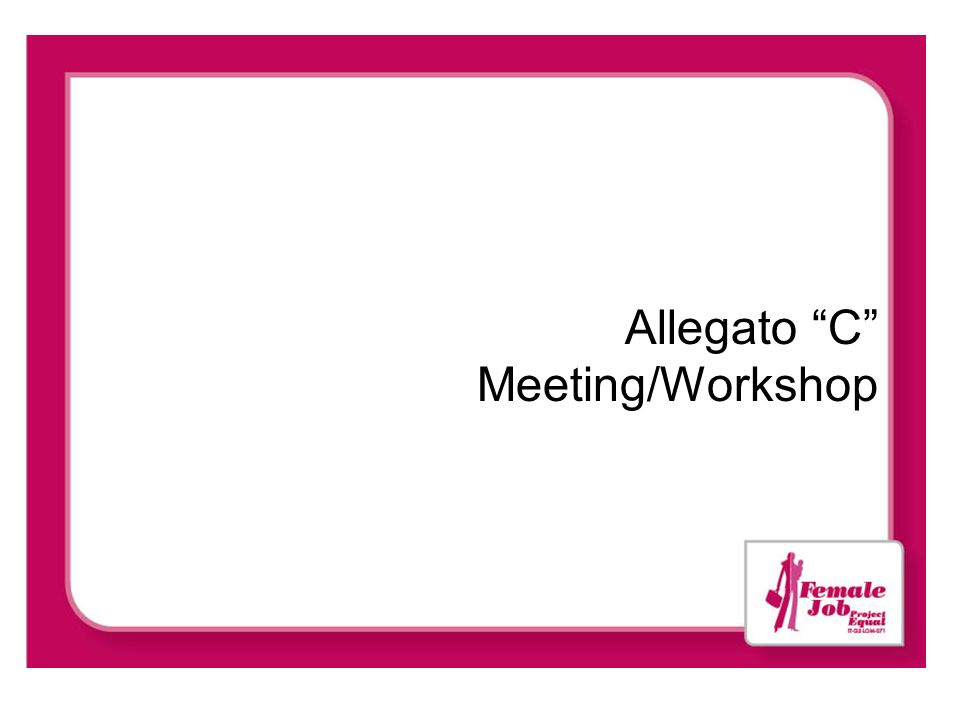 Allegato C Meeting/Workshop