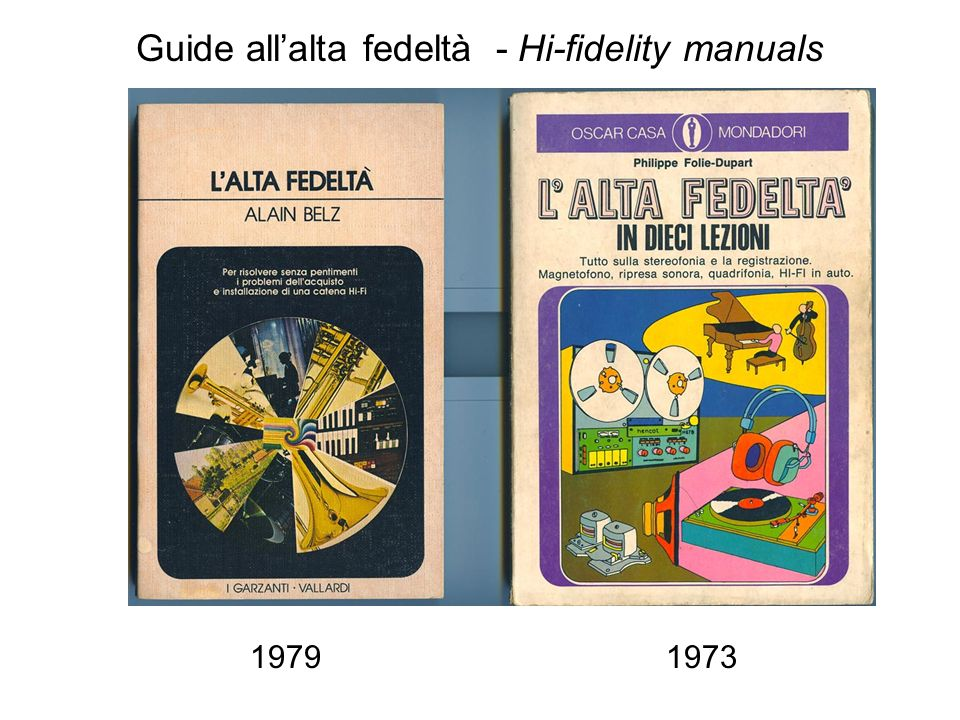 Guide all'alta fedeltà - Hi-fidelity manuals