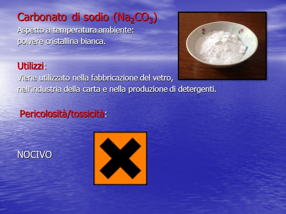 Carbonato di sodio (Na2CO3)