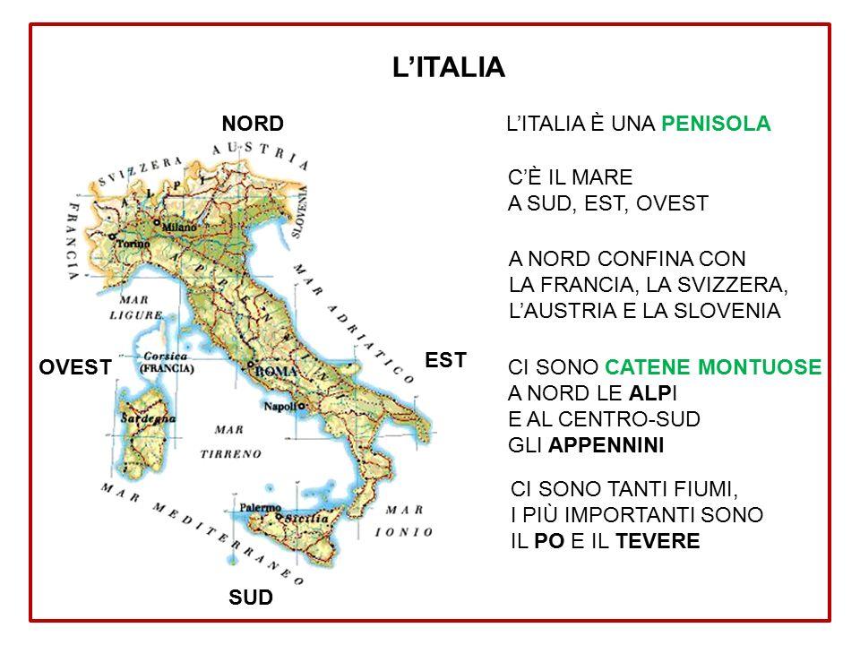 Cartina Italia Nord Sud Est Ovest.Il Mondo Ppt Scaricare