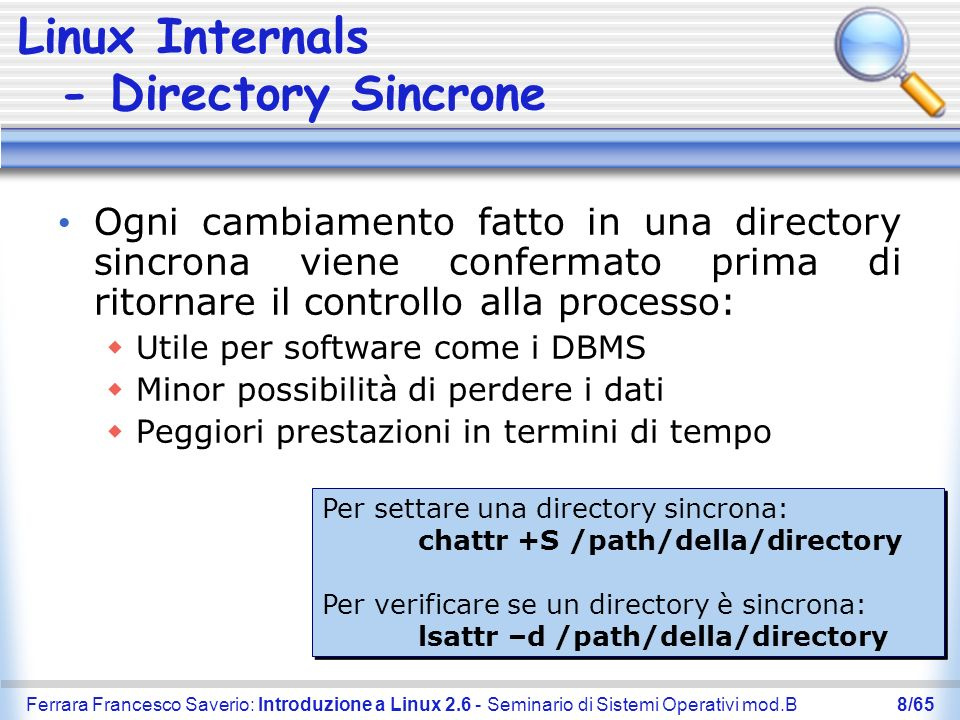 Linux Internals - Directory Sincrone