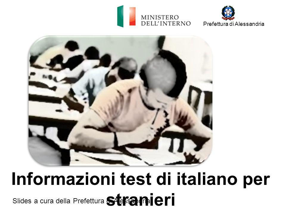 Informazioni test di italiano per stranieri - ppt scaricare