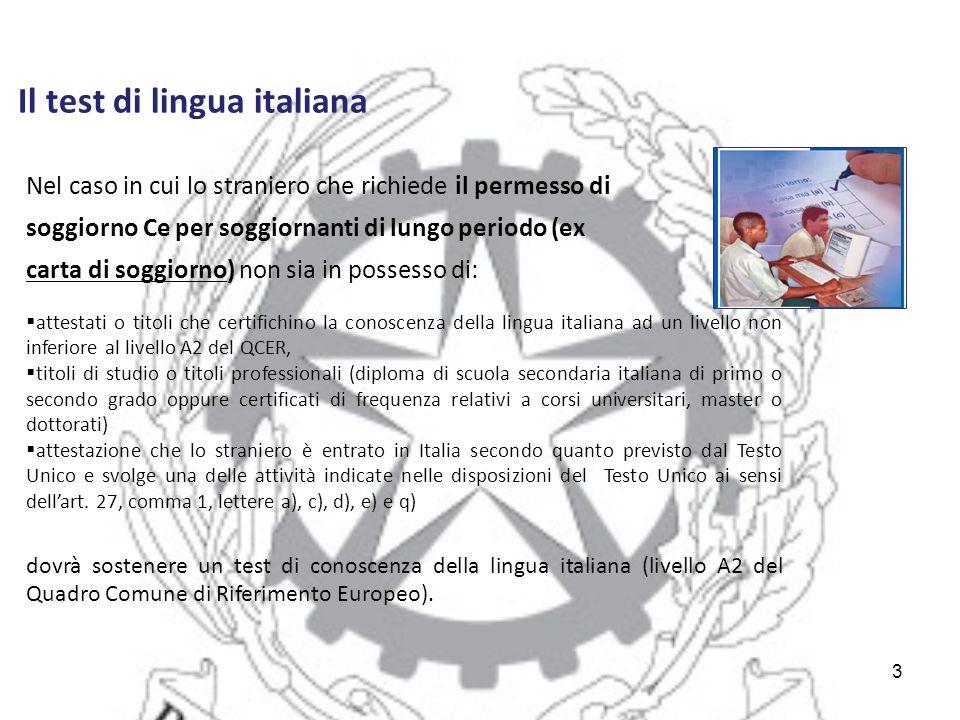 Awesome Test Italiano Per Carta Soggiorno Gallery - Casa & Design ...