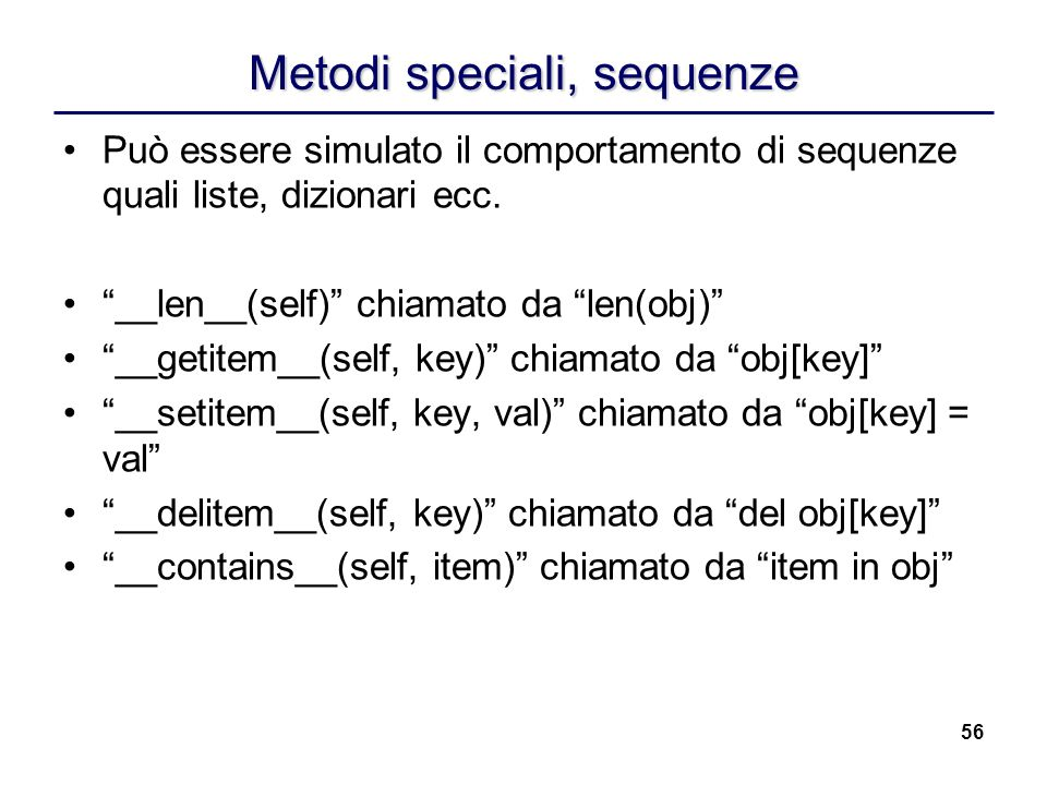 Metodi speciali, sequenze