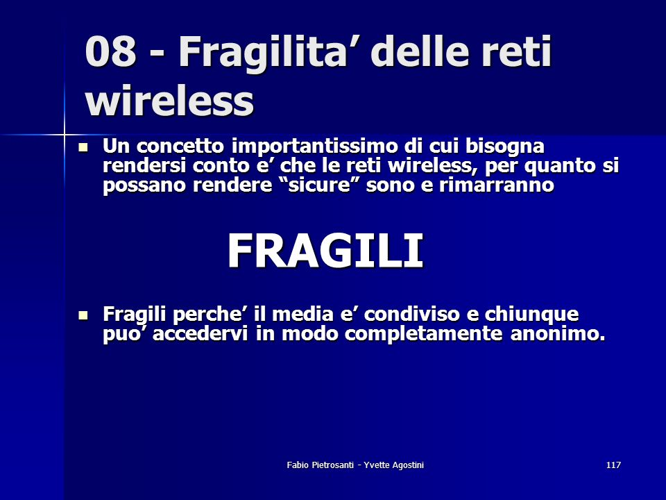 08 - Fragilita' delle reti wireless