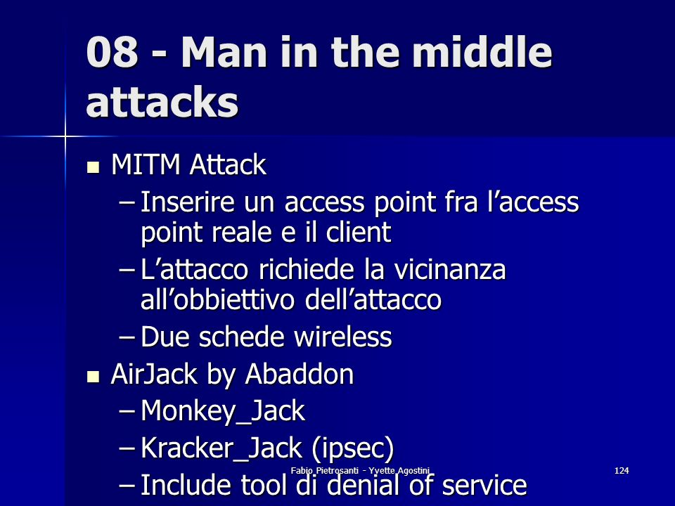 08 - Man in the middle attacks