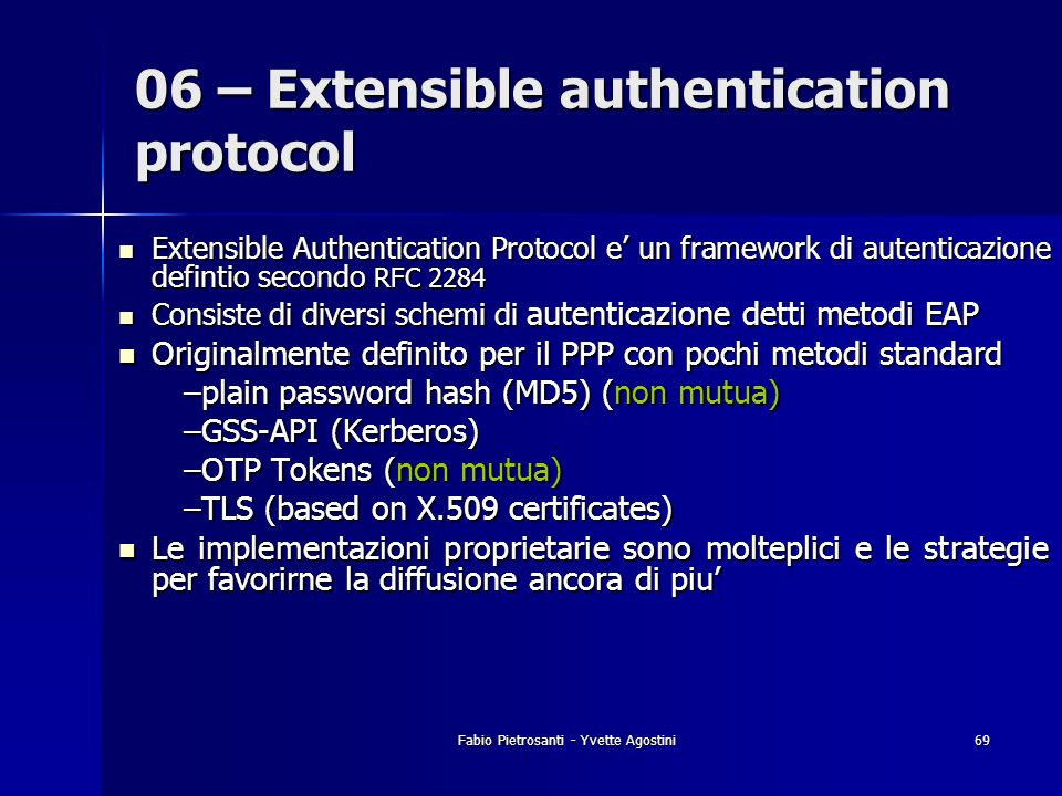 06 – Extensible authentication protocol