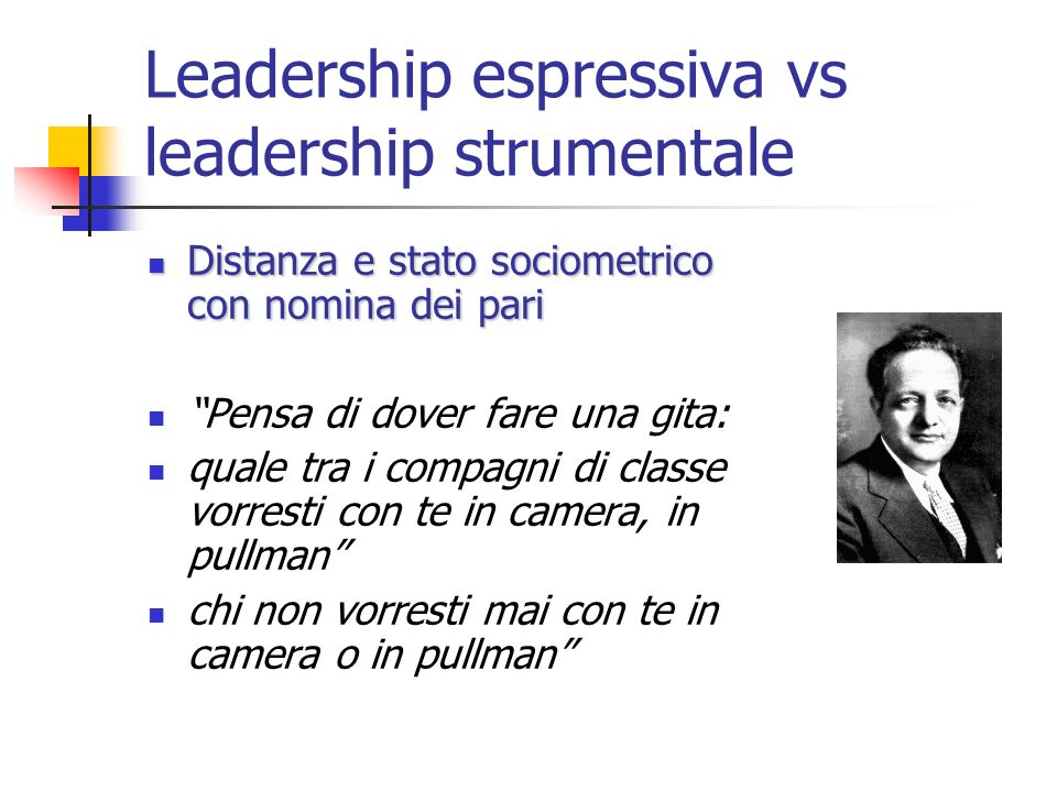 Leadership espressiva vs leadership strumentale