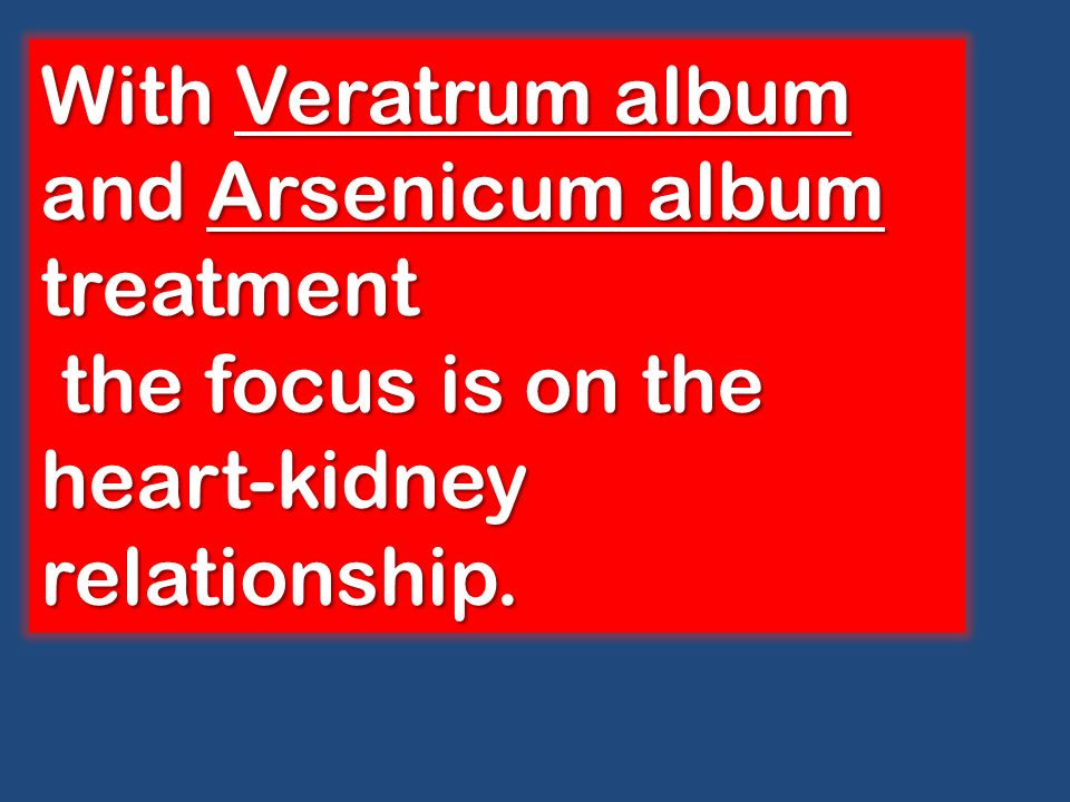 With Veratrum album and Arsenicum album treatment
