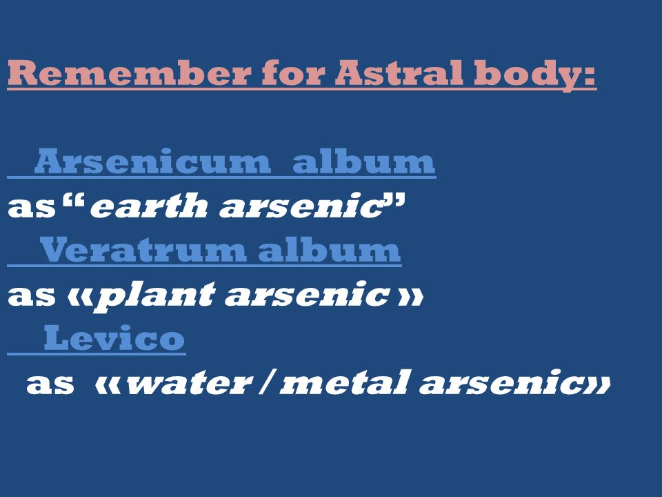 Remember for Astral body:
