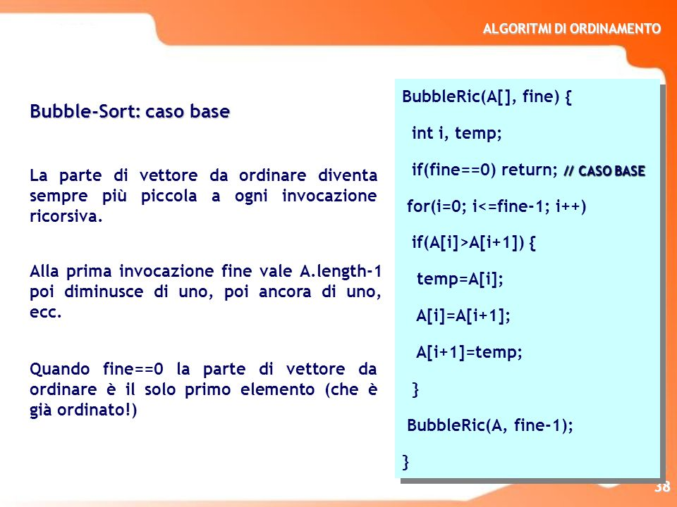 Bubble-Sort: caso base