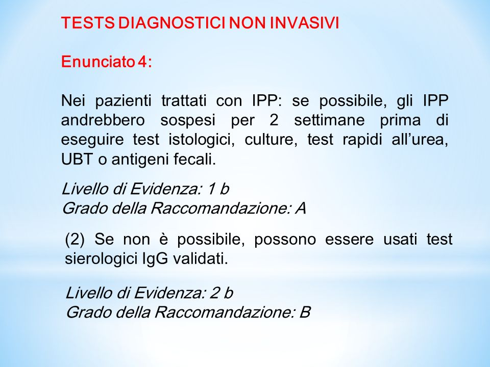 TESTS DIAGNOSTICI NON INVASIVI
