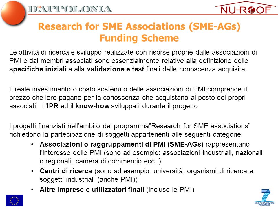 Research for SME Associations (SME-AGs) Funding Scheme
