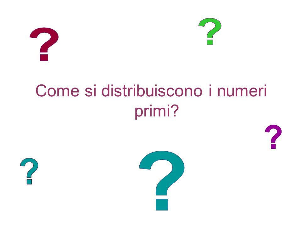 Come si distribuiscono i numeri primi