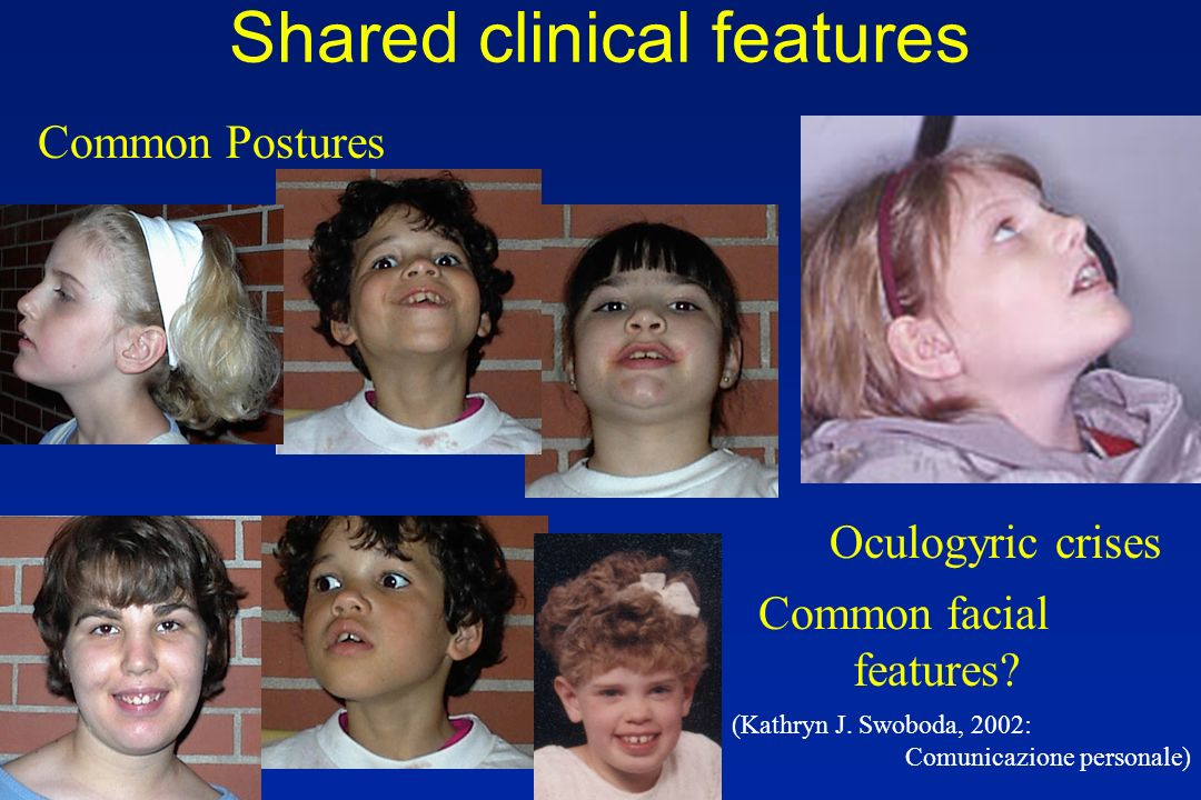 Shared clinical features