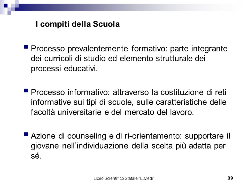 Liceo Scientifico Statale E.Medi