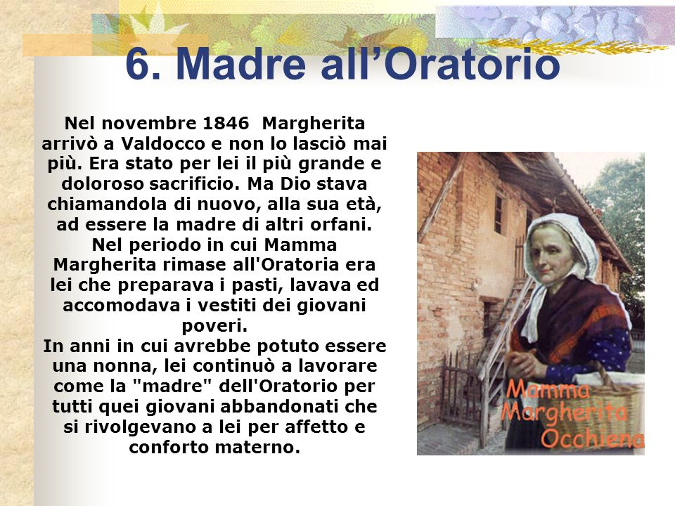 6. Madre all'Oratorio