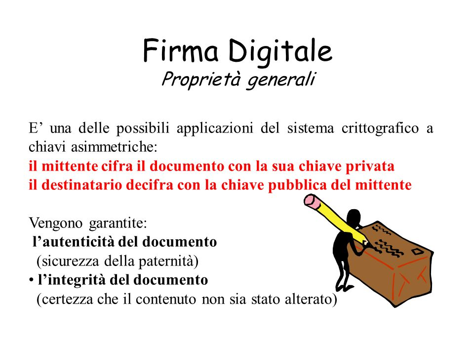 Firma Digitale Proprietà generali