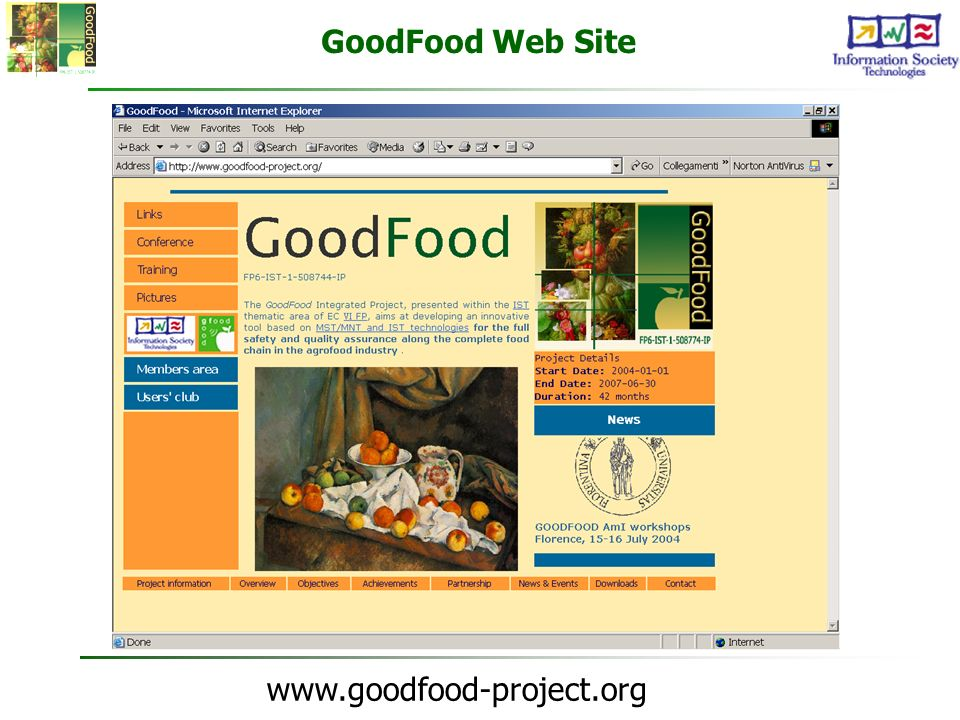 GoodFood Web Site