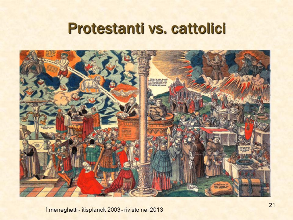 Protestanti vs. cattolici