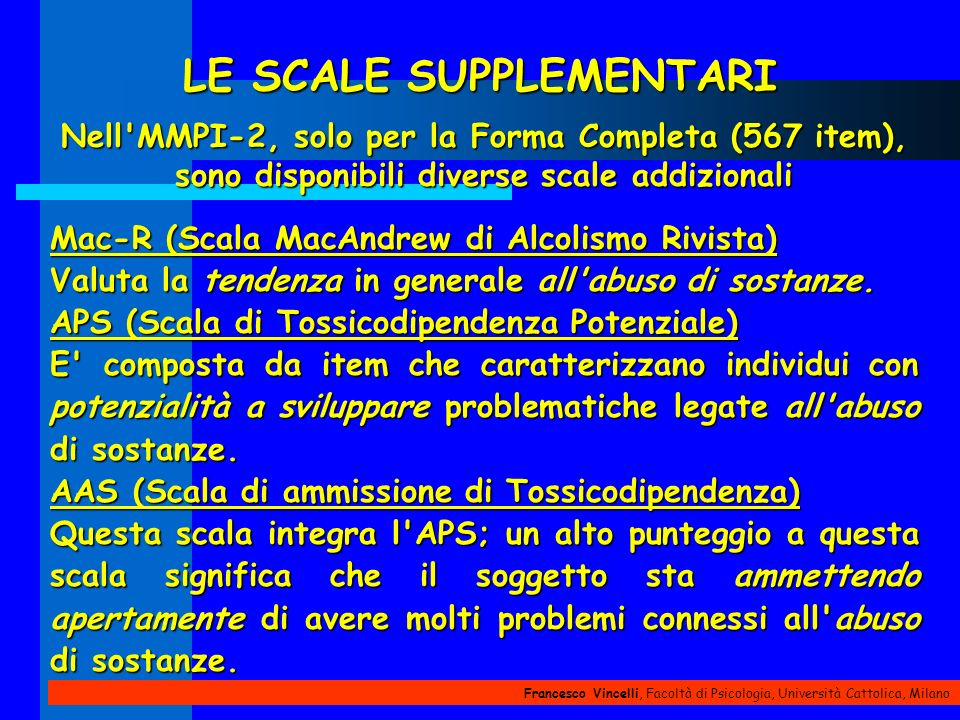LE SCALE SUPPLEMENTARI