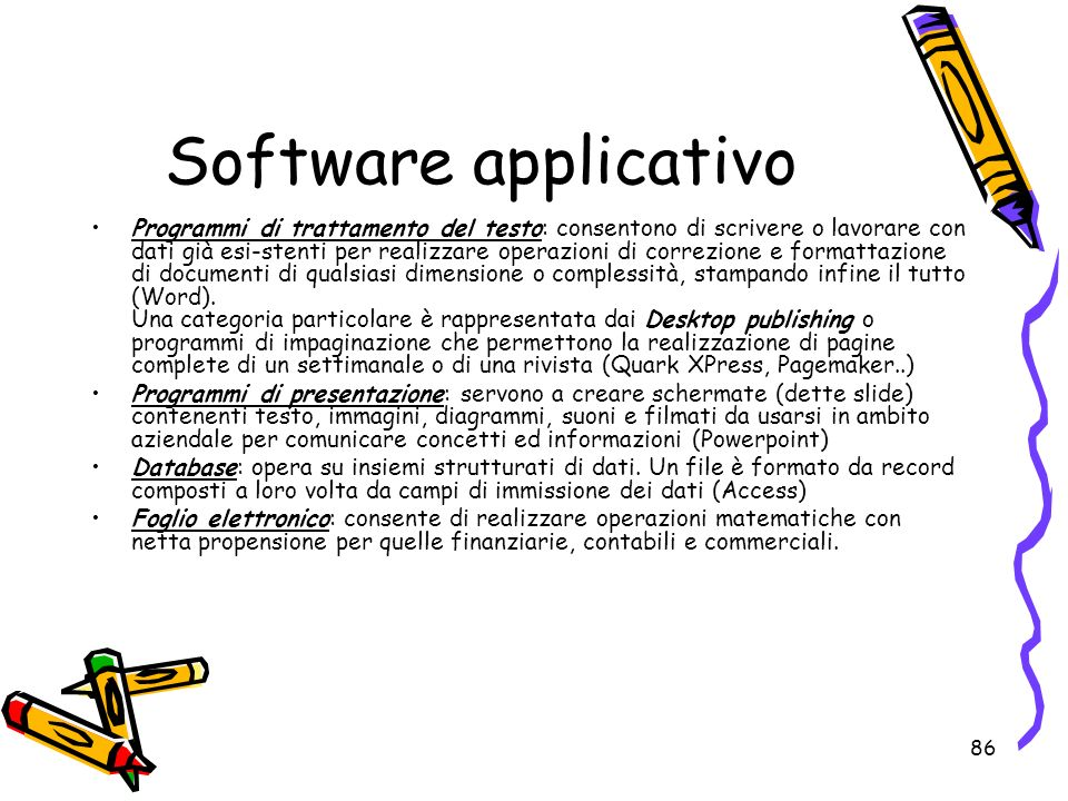 Software applicativo